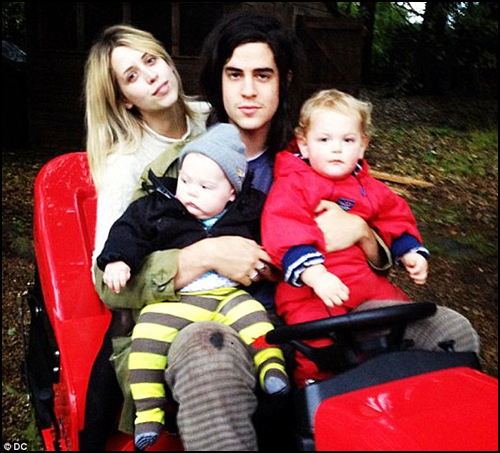 Peaches Geldof and Family