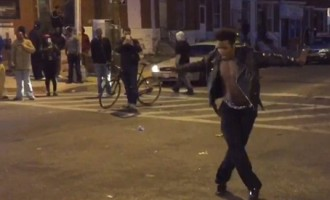 Dancing-protester